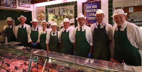 All the staff at Crump Butchers, Royal Wootton Bassett